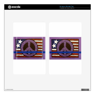 Police Peace Sign. Kindle Fire Decal