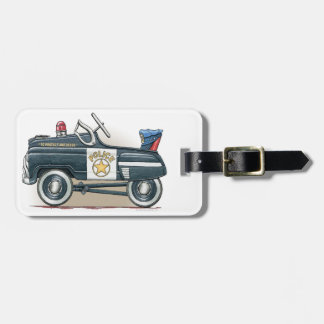 Police Pedal Car Cop Car Bag Tag
