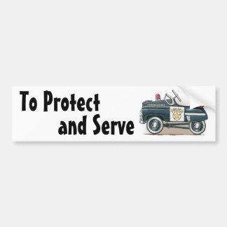 Police Pedal Car Cop Car Bumper Sticker
