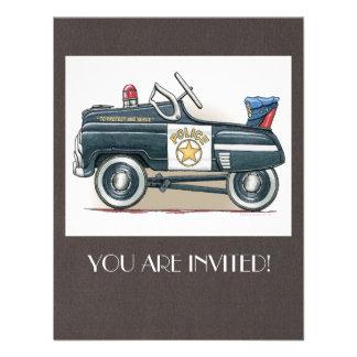 Police Pedal Car Cop Car Custom Announcements