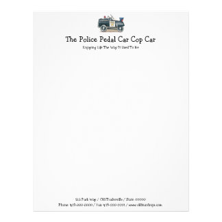 Police Pedal Car Cop Car Letterhead