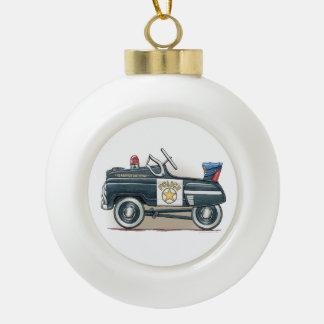 Police Pedal Car Cop Car Ornaments