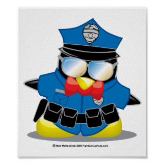 Police Penguin Posters