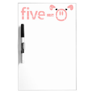 Police Pigs Five-0 Dry-Erase Board