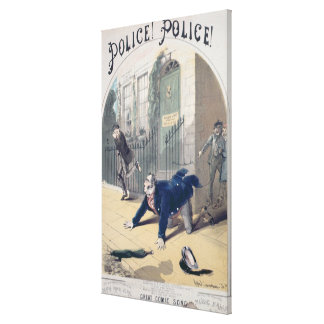Police! Police! Song Book Cover, c.1865 Canvas Print