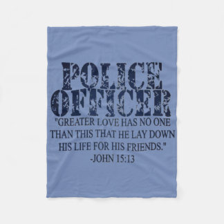 Police Prayer Blanket