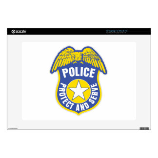 """Police Protect and Serve Badge 15"""" Laptop Skins"""