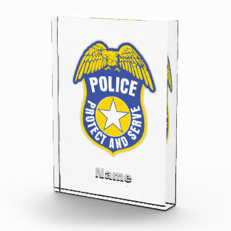 Police Protect and Serve Badge Award