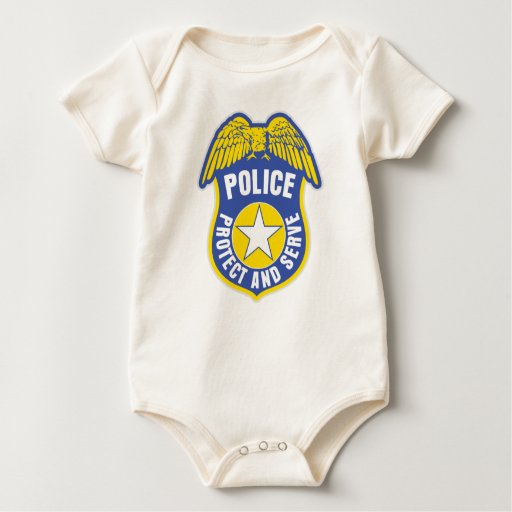 Police Protect and Serve Badge Bodysuit