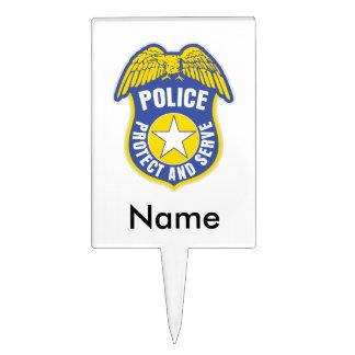Police Protect and Serve Badge Cake Picks