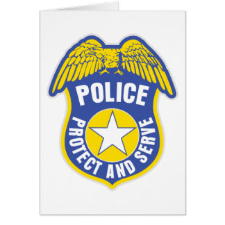 Police Protect and Serve Badge Card