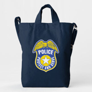 Police Protect and Serve Badge Duck Bag