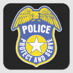Police Protect and Serve Badge Sticker