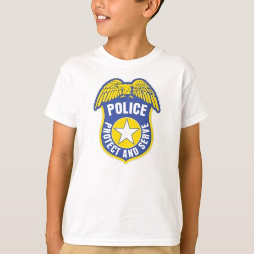 Police Protect and Serve Badge T-Shirt