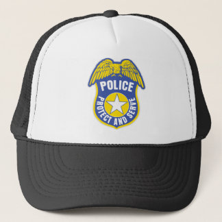 Police Protect and Serve Badge Trucker Hat