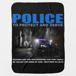Police Protect And Serve Blue Lives Matter Baby Stroller Blanket