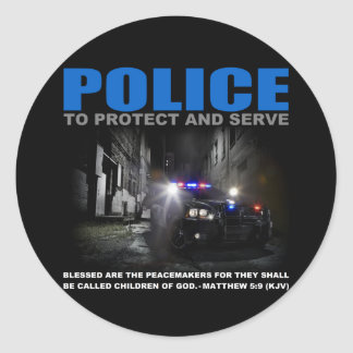 Police Protect And Serve Blue Lives Matter Sticker