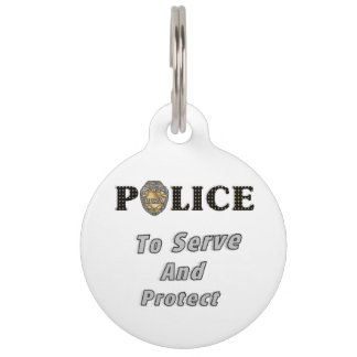 Police Protect and Serve Pet Nametags