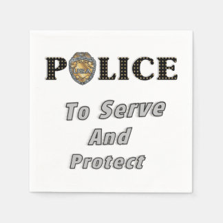Police Protect and Serve Napkin