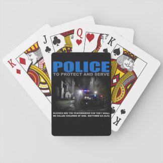 Police Protect And Serve Playing Cards