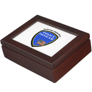 Police Proudly Serving Keepsake Box