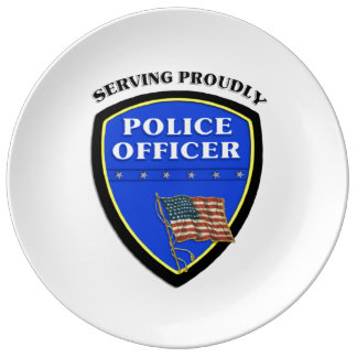 Police Proudly Serving Porcelain Plate