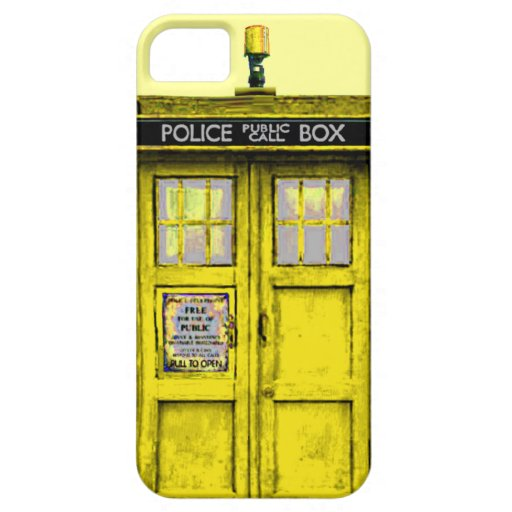 Police Public Call Box (yellow) iPhone 5 Case