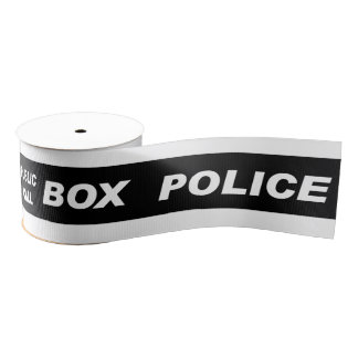 Police Public Call Phone Box Grosgrain Ribbon