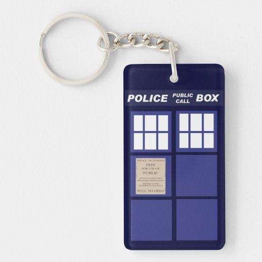 Police Public Call Phone Box Keychain