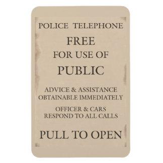 Police Public Call Phone Box Notice Rectangular Photo Magnet