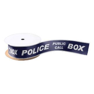 Police Public Call Phone Box Satin Ribbon