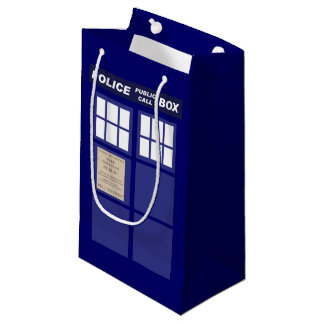 Police Public Call Phone Box Small Gift Bag