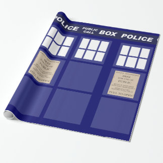 Police Public Call Phone Box Wrapping Paper
