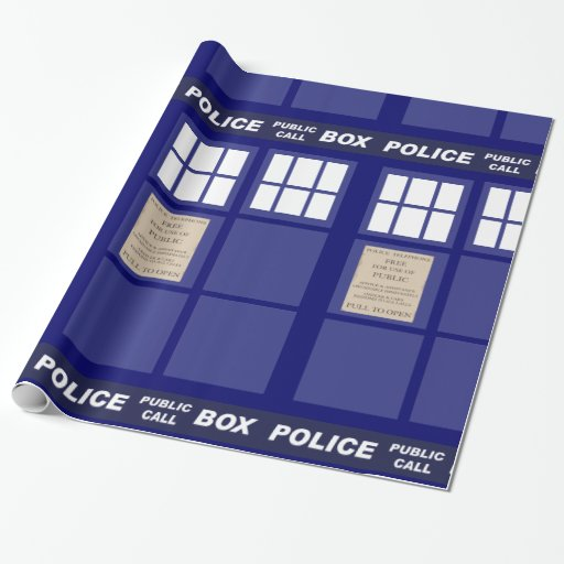Police Public Call Phone Box Gift Wrapping Paper