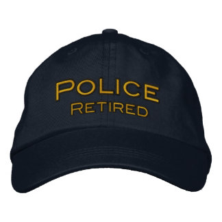 Police Retired Embroidered Baseball Hat