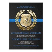 Police Retirement Invitations | Police Badge