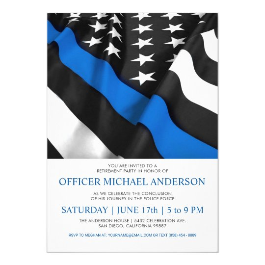 police retirement invitations usa flag zazzle com