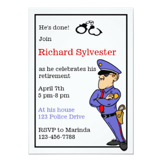 Police Retirement Party Invitation