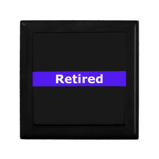 Police Retirted Thin Blue Line Gift Box