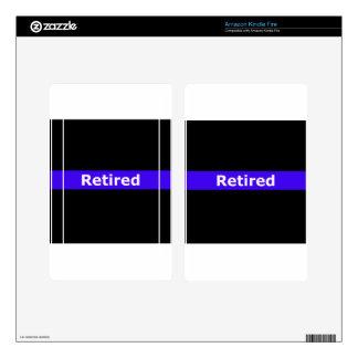 Police Retirted Thin Blue Line Kindle Fire Skins