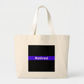 Police Retirted Thin Blue Line Large Tote Bag