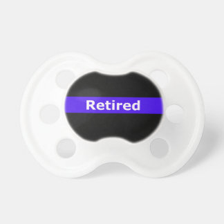 Police Retirted Thin Blue Line Pacifier