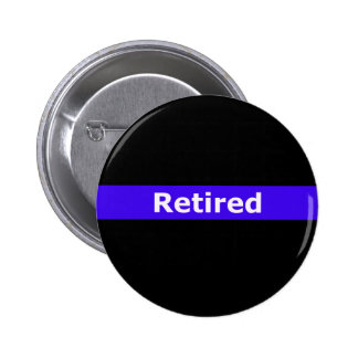 Police Retirted Thin Blue Line Pinback Button