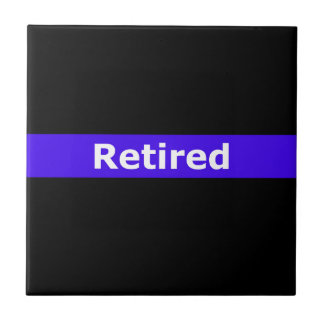 Police Retirted Thin Blue Line Small Square Tile