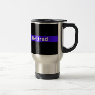 Police Retirted Thin Blue Line Travel Mug