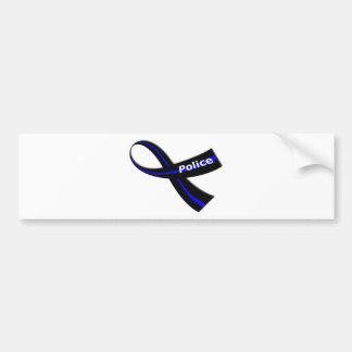 Police Ribbon Bumper Sticker