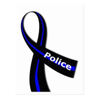 Police Ribbon Postcard