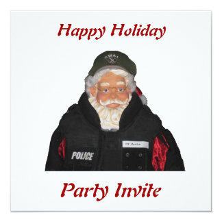 Police Santa Party Invitation