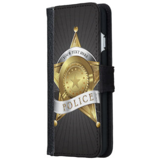 Police Security Badge iPhone 6/6s Wallet Case