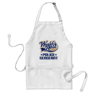 Police Sergeant Gift Adult Apron